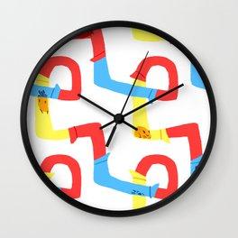 Hamster tube fun time Wall Clock