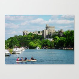 Windsor Castle from the River Thames Canvas Print