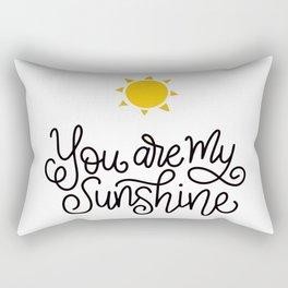 Cute Sunshine Text Rectangular Pillow