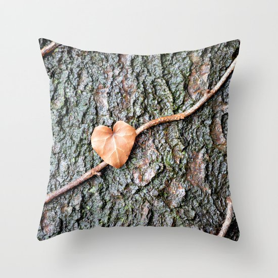 Heart and tree Throw Pillow