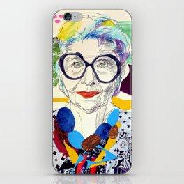 Iris Apfel Fanart iPhone Skin