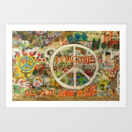 Peace Sign - Love - Graffiti Kunstdrucke