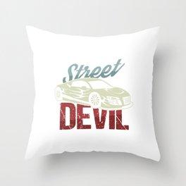 Car Racing Automobile Automotive Racers Gift Street Devil Throw Pillow