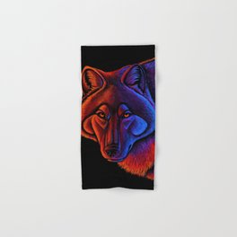 Fire Wolf Colorful Fantasy Animals Hand & Bath Towel