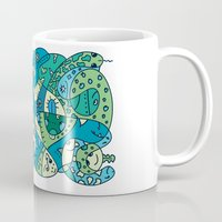 under the sea Mugs featuring Enchantment Under the Sea by Rabassa