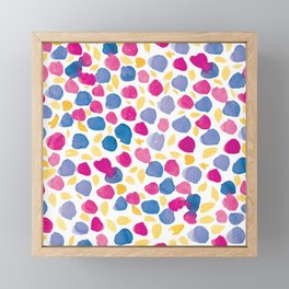 Ditsy Floral #1 | Pink, Blue, Yellow Framed Mini Art Print