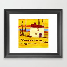 the house by the river Framed Art Print