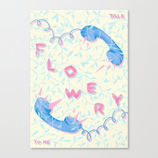 Talk Flowery To Me Canvas Print