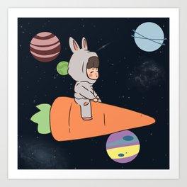 Louis Tomlinson Space Chibi Art Print