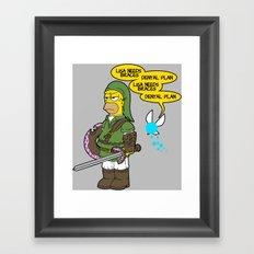 The Simpsons: Legend of Zel... er- D'OH! Framed Art Print