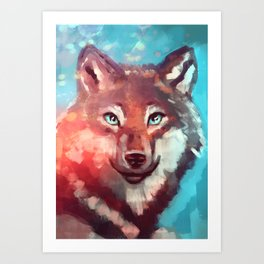 Wolf - Stare - Wanderlust Art Print