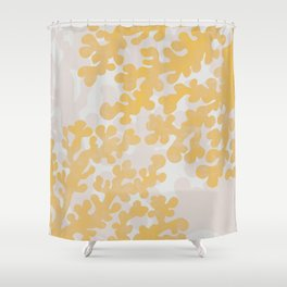 Golden Coral Shower Curtain