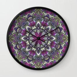 Mandala Geometric Flower G415 Wall Clock