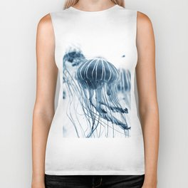 Jellyfish blue Biker Tank
