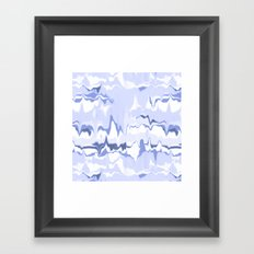 Marbled in ocean Framed Art Print