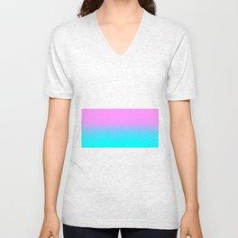 Pink to Blue Unisex V-Neck