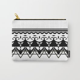 Black Pattern Carry-All Pouch
