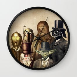 Victorian Wars (square format) Wall Clock