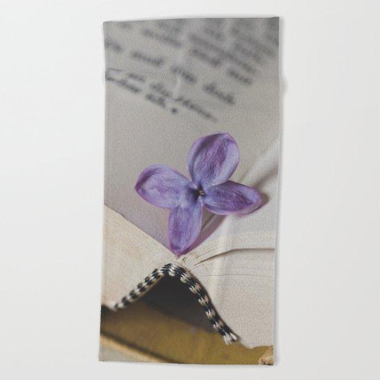 Lilac Bookmark Beach Towel