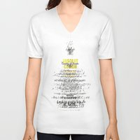 vodka V-neck T-shirts featuring Graphic Vodka  by MarianaLage