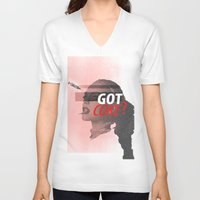 lindsay lohan V-neck T-shirts featuring Lindsay Lohan - Got Coke? by RinRin