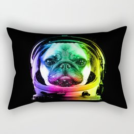 Astronaut Pug Rectangular Pillow