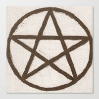 pentagram Canvas Prints featuring Pentagram by Ria-Ra
