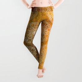 Rosette Window - Yellow Leggings