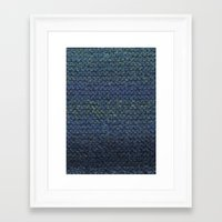 knit Framed Art Prints featuring Knit  by SazzyDoodles