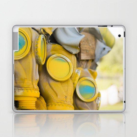 Yellow gas mask Laptop & iPad Skin