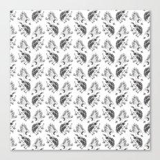 Birds & Trees Pattern Canvas Print
