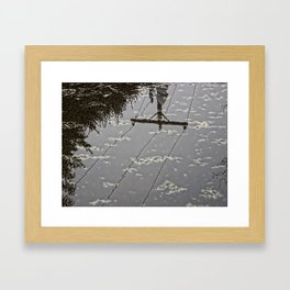 imperfect reflection Framed Art Print