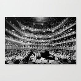 Metropolitan Opera House, New York City black and white photography / black and white photographs Canvas Print