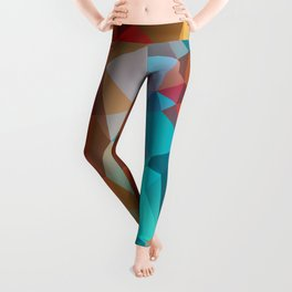 Abstract bright background of triangles polygon print illustration Leggings