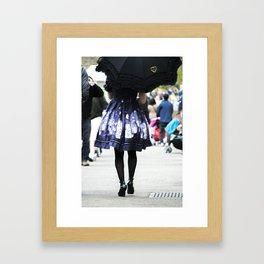 The Girl in the Blue Dress Framed Art Print