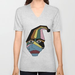 Woman in Hat Unisex V-Neck