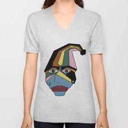 Woman in Hat Unisex V-Neck