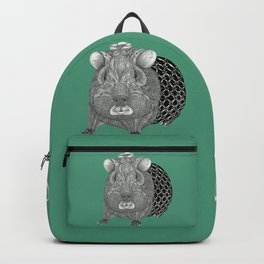 Ms Guinea Pig is dressed up and ready to go party Backpack