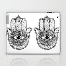 Hamsa white Laptop & iPad Skin