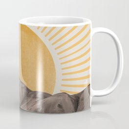 Abstract Landscape, Mountain and Sunshine Coffee Mug