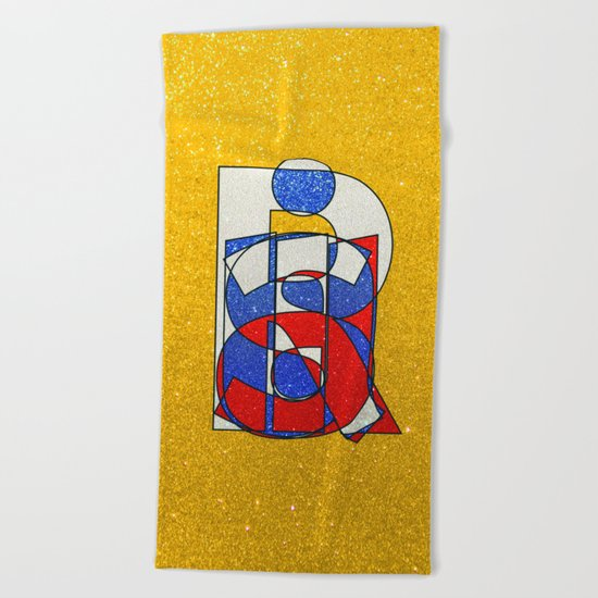 RUSSIA - Gold - Glitter Beach Towel