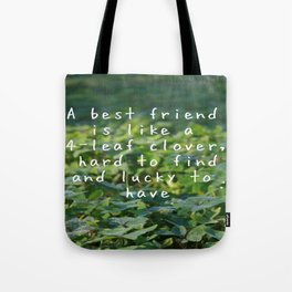 LUCK CLOVERS Tote Bag