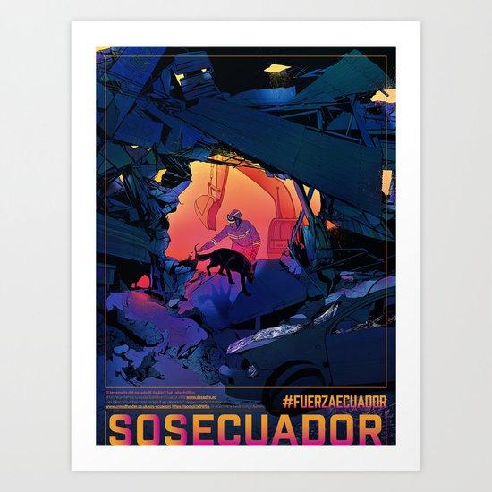 #SOSECUADOR Poster by fjgc
