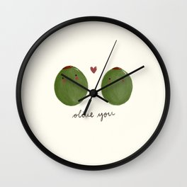 Olive you Wall Clock