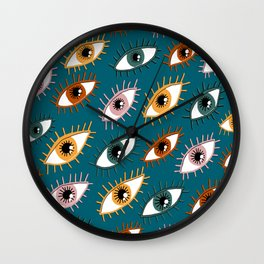 Eyes Limited Palette Pattern Wall Clock