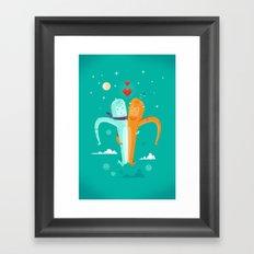 :::Moon Love::: Framed Art Print