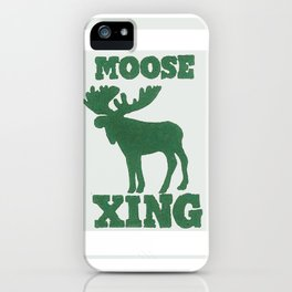 Moose Xing iPhone Case