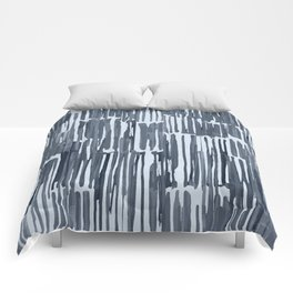 Simply Bamboo Brushstroke Indigo Blue on Sky Blue Comforters