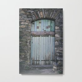 Old Blue Door II Metal Print