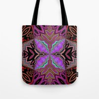tiki Tote Bags featuring Tiki  by Lyn Wiegand